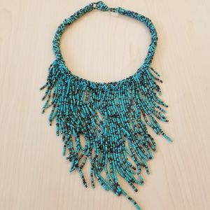 Turquoise Handmade Beaded Necklace